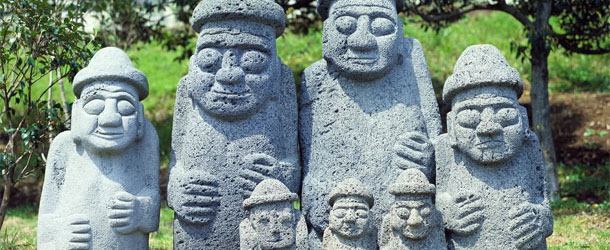 Jeju Island statues, South Korea